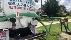 Sewage spilling onto streets in Polk County neighborhood