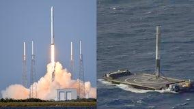 Rocket landing overshadows SpaceX Dragon's return to flight