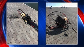 No injuries after paramotor hits DeSoto condo