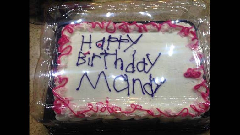 Outstanding Happy Birthday Mandy The Story Behind This Cake Will Warm Your Personalised Birthday Cards Veneteletsinfo