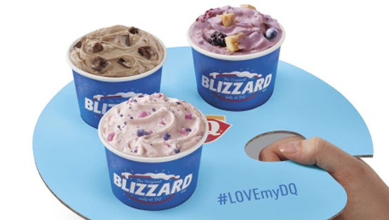 Astonishing Dairy Queens New Blizzard Flights Will Let You Try 3 Flavors At Personalised Birthday Cards Cominlily Jamesorg
