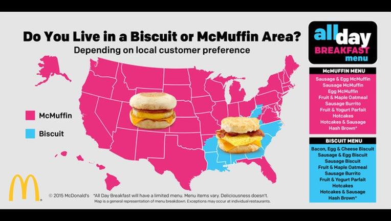 McDonald's Map-402429