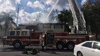 Crews battle fire at condo building in Oldsmar