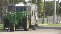 Man's cross-country tractor trek spreads awareness for needs of veterans
