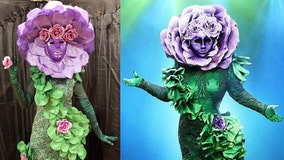 Family dazzles in elaborate, hand-made 'The Masked Singer' costumes for Halloween
