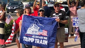 Rally draws Trump supporters, opponents to Haines City