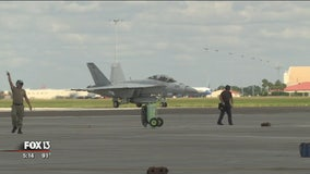 F/A-18 Super Hornet training flights underway over Tampa Bay