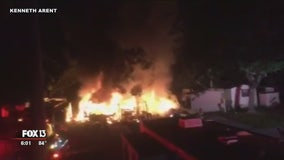 Mobile homes destroyed in early morning fire in Pinellas Park
