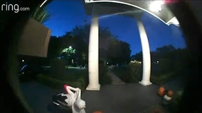 Watch: Trick-or-treater puts candy in empty bowl outside Lakeland home