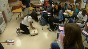 Students learn CPR during culinary class