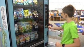 Donations fund book vending machine at Venice school