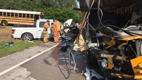 Deputies: Avon Park student hospitalized after truck hit school bus head-on