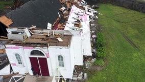 Century-old Lakeland church building shredded by tornado