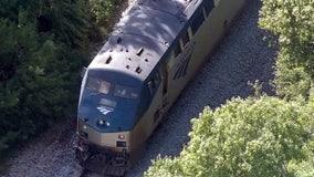 Train hits flatbed trailer at Lakeland crossing