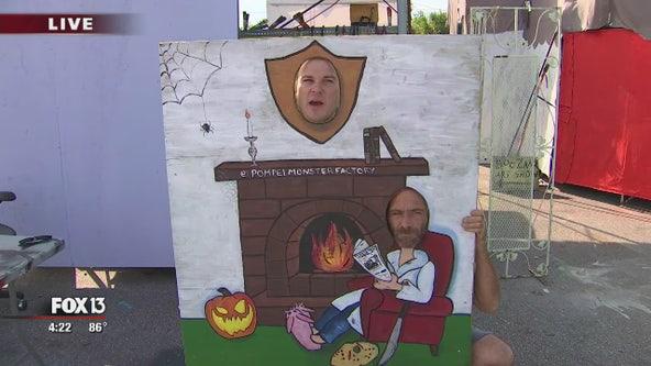 Art studio meets Halloween ride