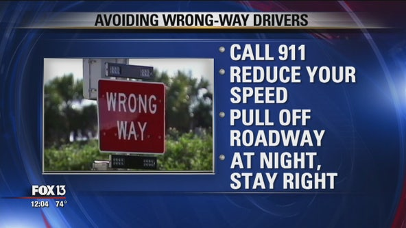 Tips for avoiding wrong-way drivers