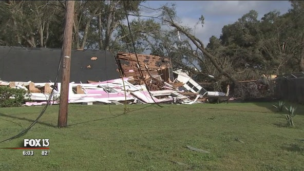 Tornado damages church, homes in Lakeland