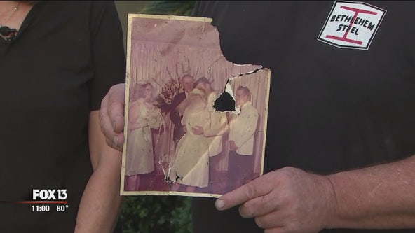 Kathleen couple hopes to return decades-old wedding photo found after tornado