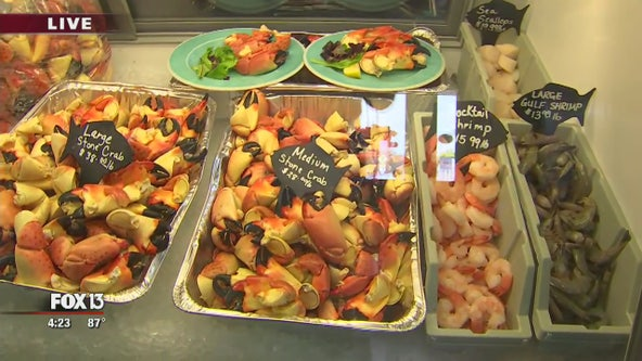 Stone crabs are back on the menu