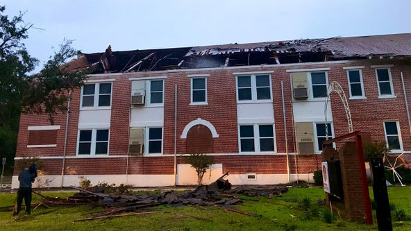 Classes canceled at Kathleen Middle School Monday and Tuesday after tornado rips off part of roof