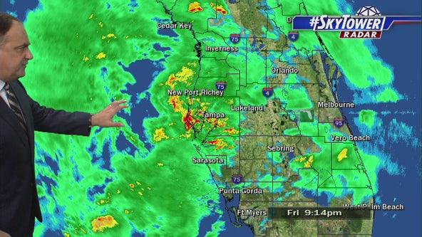 Tropical Storm Nestor Friday night update