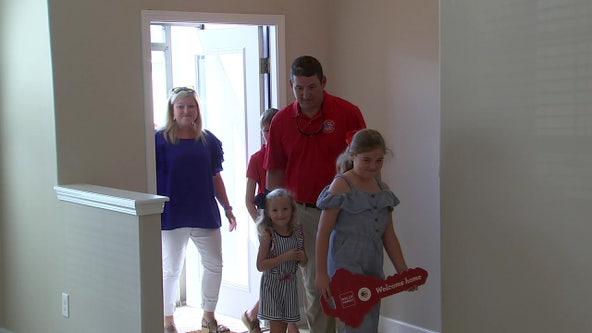 Purple Heart recipient given new home