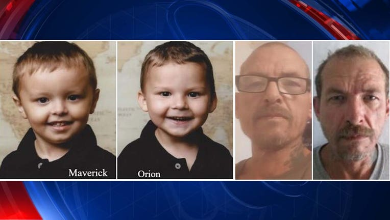New Mexico police say 3-year-old Maverick and his 4-year-old brother, Orion, may have been abducted by their father, Clarence Michael Ransom. (Photos: Las Cruces Police Department)