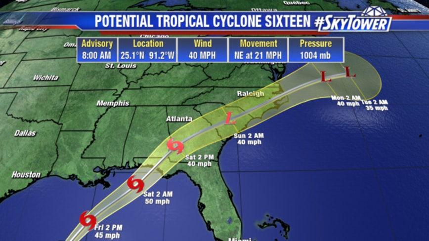 Wet weekend: Tropical storm, surge warnings for coast