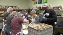 Metropolitan Ministries serving thousands of pounds of food to families on Thanksgiving