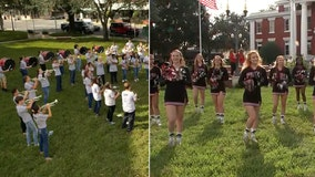 Pasco High perform fight song for 'Hometown Dade City'