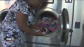 Afternoon of free laundry takes load off for Tampa families