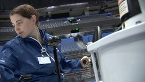 One of two female Zamboni operators in the NHL work for the Lightning