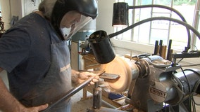 Retired firefighter finds new passion in woodturning