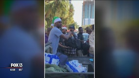 NFL star returns to Tampa to make a difference for homeless citizens