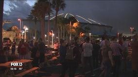 Tropicana Field's Enchant Christmas kickoff event ruined by rain