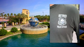 Retired police officer says Universal Orlando had problem with 'retired police officer' shirt