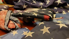 Kennesaw teen collects torn, tattered flags to help military veterans