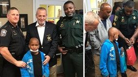 Florida deputy, nonprofit surprise boy fighting cancer with Disney World trip