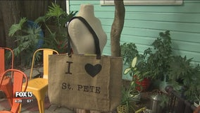 St. Pete seamstress turns discarded sails, burlap, vinyl into fashion accessories