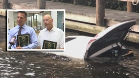 Venice men honored for saving woman from sinking car