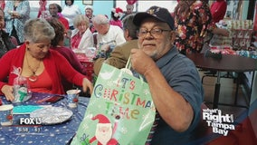 Group putting smiles on seniors' faces during holidays