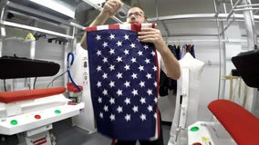 Tampa dry cleaner offers free flag-cleaning service