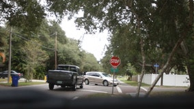 Watch: Drivers disregard stop signs near Orange Grove Elementary