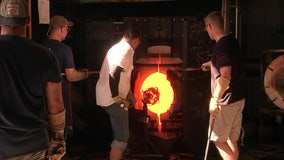 Glass blowing becomes a form of therapy for veterans
