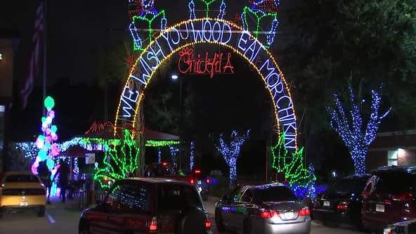 Chick-fil-A Tampa Christmas Lights