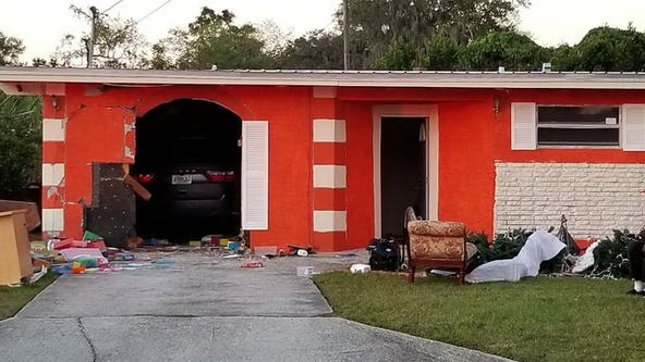 "Vehicle crashes into home day care in Lakeland; 4 taken to hospital ""as precaution"""