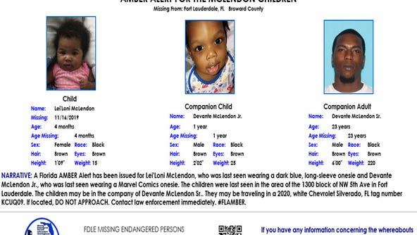 Amber Alert issued for infant, toddler from Fort Lauderdale has been resolved