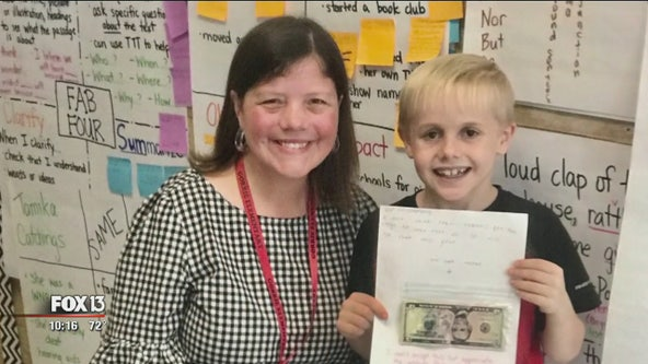 Student who gave teacher birthday money hopes to meet President Trump, deliver message about educators