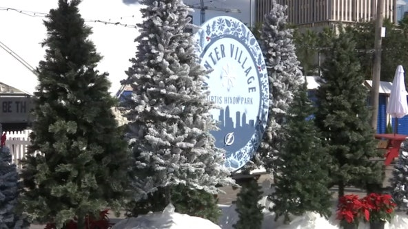 With temperatures in the 70s, outdoor ice skating is open in downtown Tampa