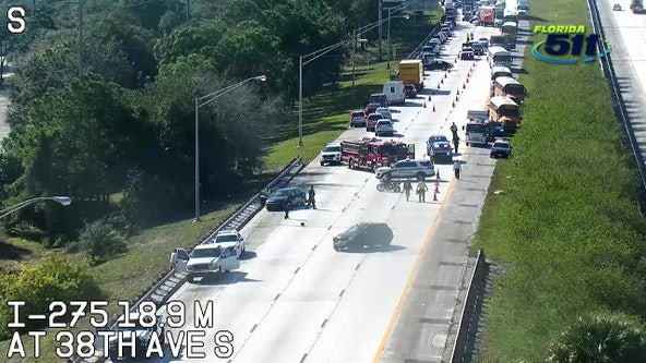 Crash closes I-275 northbound lanes in St. Pete
